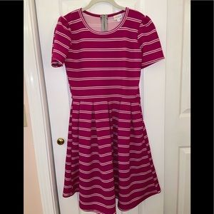 ** NEVER WORN ** LulaRoe Pink Stripes Dress